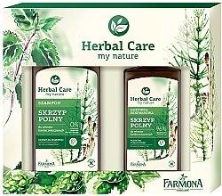 Düfte, Parfümerie und Kosmetik Haarpflegeset Schachtelhalm - Farmona Herbal Care Horsetail (Shampoo 330ml + Haarspülung 200ml)