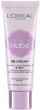 5in1 BB Gesichtscreme mit LSF 20 - L'Oreal Paris Glam Nude BB Cream 5 in 1 SPF 20 — Bild N1