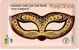 Düfte, Parfümerie und Kosmetik Kollagen-Augenmaske Sexy Leopard - Purederm Carnival Look Eye Gel Mask Sexy Leopard