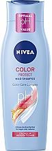 Düfte, Parfümerie und Kosmetik Farbschützendes Shampoo für gefärbtes und gesträhntes Haar - Nivea Color Protect pH Balace Mild Shampoo