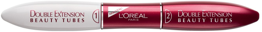 Verlängernde Wimperntusche - L'Oreal Paris Double Extension Beauty Tubes — Bild N2