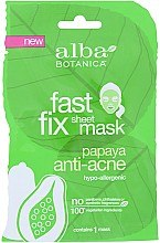 Düfte, Parfümerie und Kosmetik Anti-Akne Gesichtsmaske mit Papaya - Alba Botanica Fast Fix Anti Acne Sheet Mask