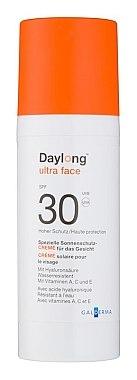 Spezielle wasserfeste Sonnenschutzcreme für das Gesicht mit Hyaluronsäure und Vitaminen A, C und E SPF 30 - Daylong Ultra Face — Bild N1