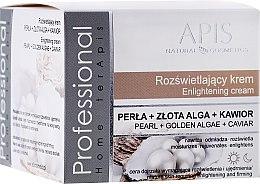 Düfte, Parfümerie und Kosmetik Aufhellende und verjüngende Gesichtscreme mit Perle, Goldalgen und Kaviar - APIS Professional Home terApis