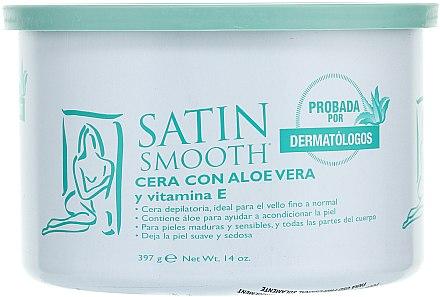 Enthaarungswachs mit Aloe Vera und Vitamin E - Satin Smooth Aloe Vera Wax With Vitamin E — Bild N1