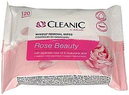 Düfte, Parfümerie und Kosmetik Reinigunstücher zur Make-up Entfernung mit japanischem Rosenöl und Hyaluronsäure - Cleanic Rose Beauty