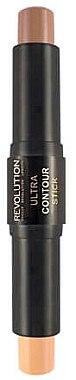 Doppelseitiger Korrekturstift - Makeup Revolution Ultra Contour Duo Stick  — Bild N1