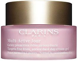 Düfte, Parfümerie und Kosmetik Leistungsstarke Tagescreme-Gel gegen die ersten Falten für normale und Mischhaut - Clarins Multi Active Antioxidant Day Cream-Gel