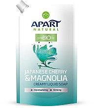 """Düfte, Parfümerie und Kosmetik Flüssige Cremeseife """"Japanische Kirsche und Magnolie"""" - Apart Natural Japanese Cherry & Magnolia Soap (Doypack)"""