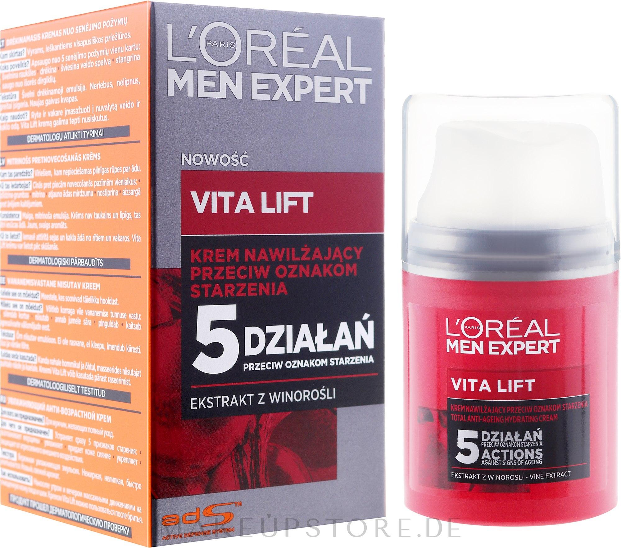 Feuchtigkeitsspendende Anti-Aging Gesichtscreme für Männer
