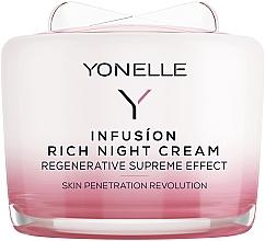 Düfte, Parfümerie und Kosmetik Regenerierende Nachtscreme für Gesicht und Hals - Yonelle Infusion Rich Night Cream