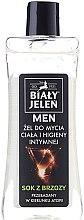 Düfte, Parfümerie und Kosmetik 2in1 Intimpflegegel für Männer mit Birkensaft - Bialy Jelen Hypoallergenic Body Gel and Intimate Hygiene 2in1
