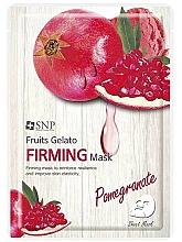 Düfte, Parfümerie und Kosmetik Straffende Tuchmaske für das Gesicht mit Granatapfelextrakt - SNP Fruits Gelato Firming Mask