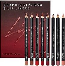 Düfte, Parfümerie und Kosmetik Lippenset (Lippenkonturenstift 8x1.14g) - Zoeva Graphic Lips Box