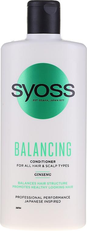 Ausgleichende Haarspülung für alle Haartypen mit Ginseng - Syoss Balancing Ginseng Conditioner