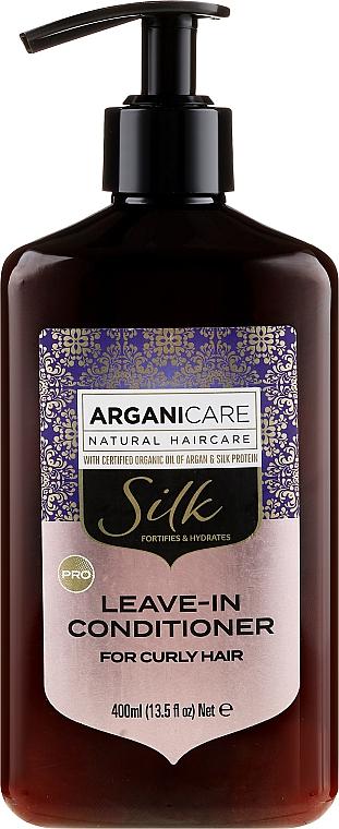 Haarspülung mit Seidenproteinen für lockiges Haar - Arganicare Silk Leave-In Conditioner For Curly Hair — Bild N1