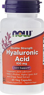 Hyaluronsäure 100 mg 120 Kapseln - Now Foods Hyaluronic Acid 100 mg — Bild N1