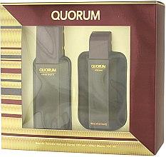Düfte, Parfümerie und Kosmetik Antonio Puig Quorum - Duftset (Eau de Toilette 100ml + After Shave Balsam 100ml)