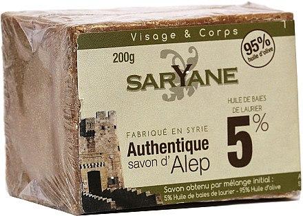 Aleppo-Seife mit 5% Lorbeeröl - Saryane Authentique Savon DAlep 5% — Bild N1