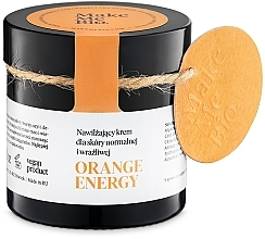 Düfte, Parfümerie und Kosmetik Feuchtigkeitsspendende Gesichtscreme für normale und empfindliche Haut - Make Me BIO Orange Energy