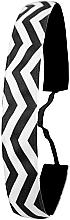 Düfte, Parfümerie und Kosmetik Haarband schwarz-weiß - Ivybands Chevron Black White Hair Band