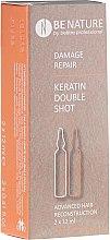 Düfte, Parfümerie und Kosmetik Pflegeset für geschädigtes Haar - Beetre BeNature Demage Repaire Keratin Double Shot (Haarampulle mit Keratin 2x12ml)