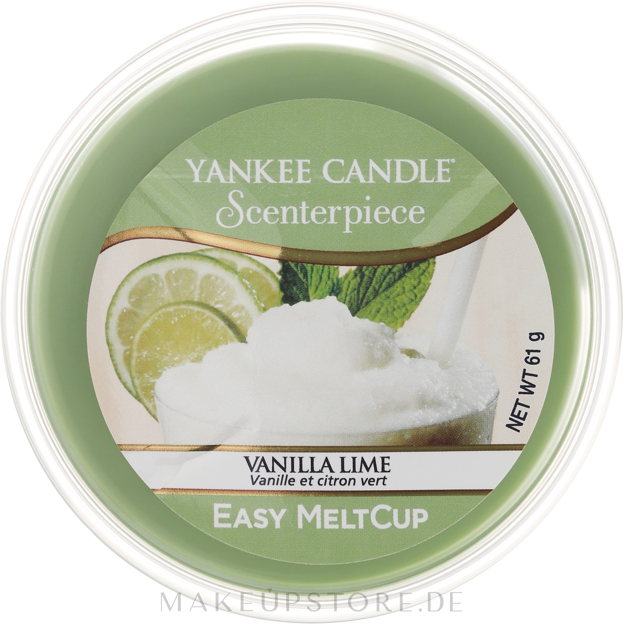 Tart-Duftwachs Vanilla Lime - Yankee Candle Vanilla Lime Melt Cup — Bild 61 g