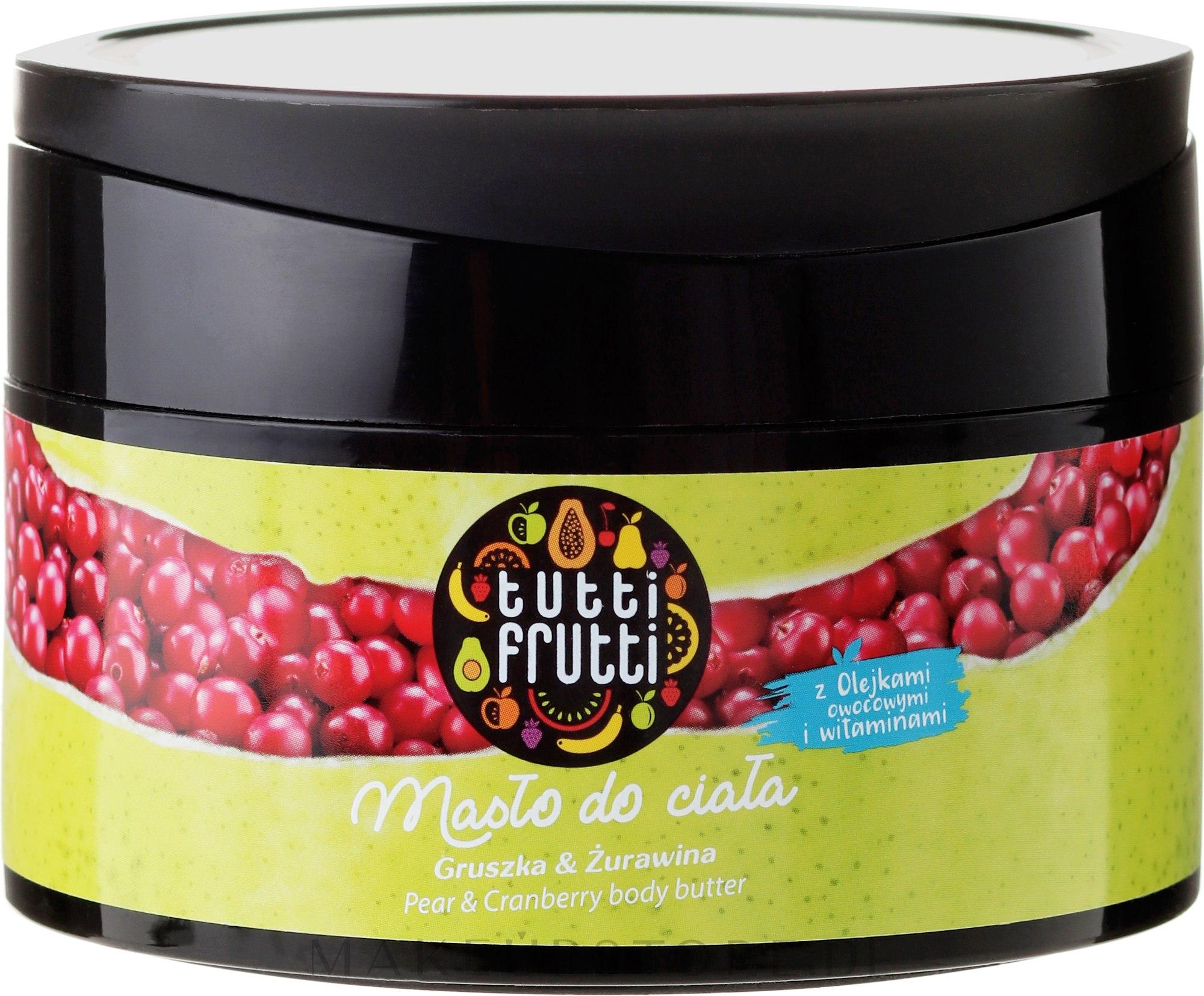 Feuchtigkeitsspendende Körperbutter mit Birne und Preiselbeere - Farmona Tutti Frutti Pear Body Butter — Bild 200 ml
