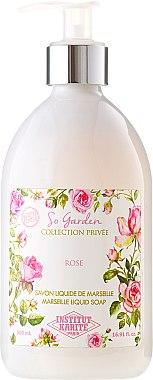 """Flüssigseife """"Rose"""" - Institut Karite So Garden Collection Privee Rose Marseille Liquid Soap — Bild N1"""