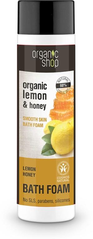 Badeschaum mit Bio Zitronenöl und Honig - Organic Shop Organic Lemon and Manuka Golden Bath Foam — Bild N1
