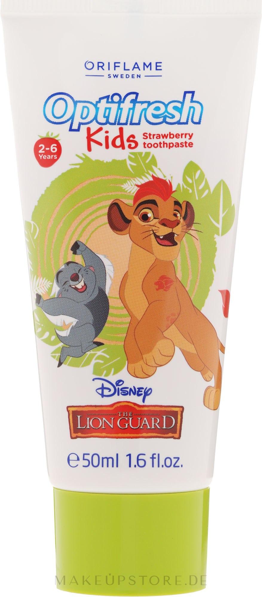 Kinderzahnpasta 2-6 Jahre The Lion Guard mit Erdbeergeschmack - Oriflame Disney The Lion Guard Toothpaste — Bild 50 ml