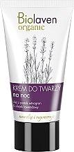 Düfte, Parfümerie und Kosmetik Feuchtigkeitsspendende und regenerierende Nachtcreme mit Traubenkern- und Lavendelöl - Biolaven Night Face Cream