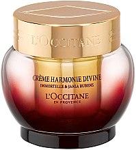 Düfte, Parfümerie und Kosmetik Glättende und aufhellende Anti-Aging Gesichtscreme Immortelle, Rotalgen und Hyaluronsäure - L'occitane Jania Rubens Harmony Divine Cream