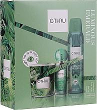 Düfte, Parfümerie und Kosmetik C-Thru Luminous Emerald - Duftset (Deospray 150ml + Eau de Toilette 30ml + Duftkerze 1 St.)