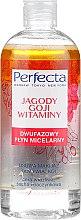Düfte, Parfümerie und Kosmetik Zweiphasiges Mizellen-Reinigungswasser mit Goji-Beeren und Vitaminen für trockene, empfindliche und Couperose-Haut - Perfecta