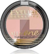 Gesichtsrouge - Eveline Cosmetics All In One Highlighter Blush — Bild N1