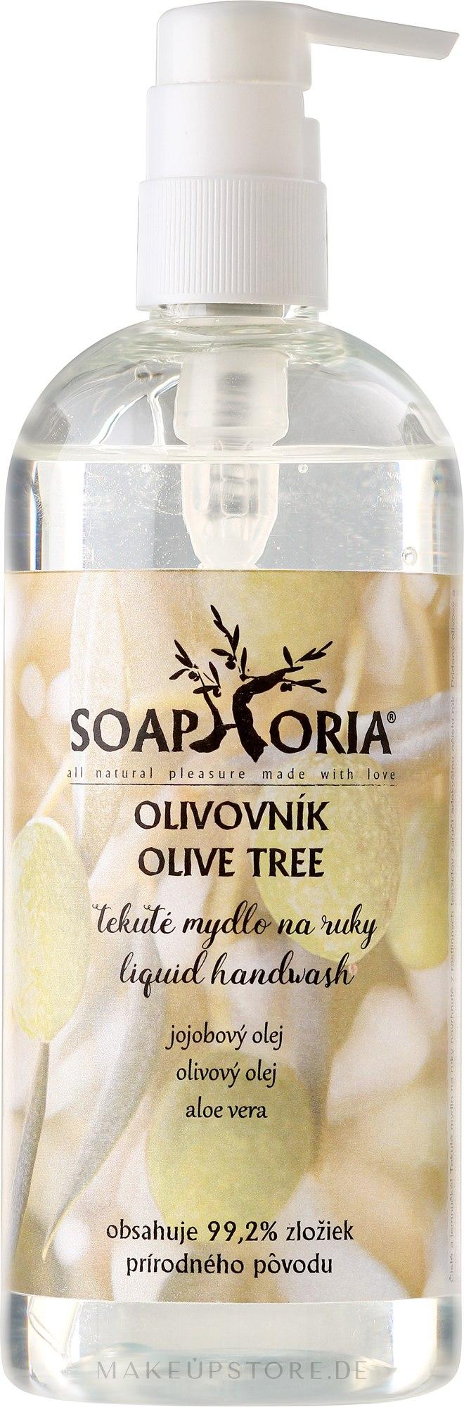 "Flüssige Handseife ""Schöllkraut"" - Soaphoria Olive Tree Liquid Hand Wash — Bild 400 ml"