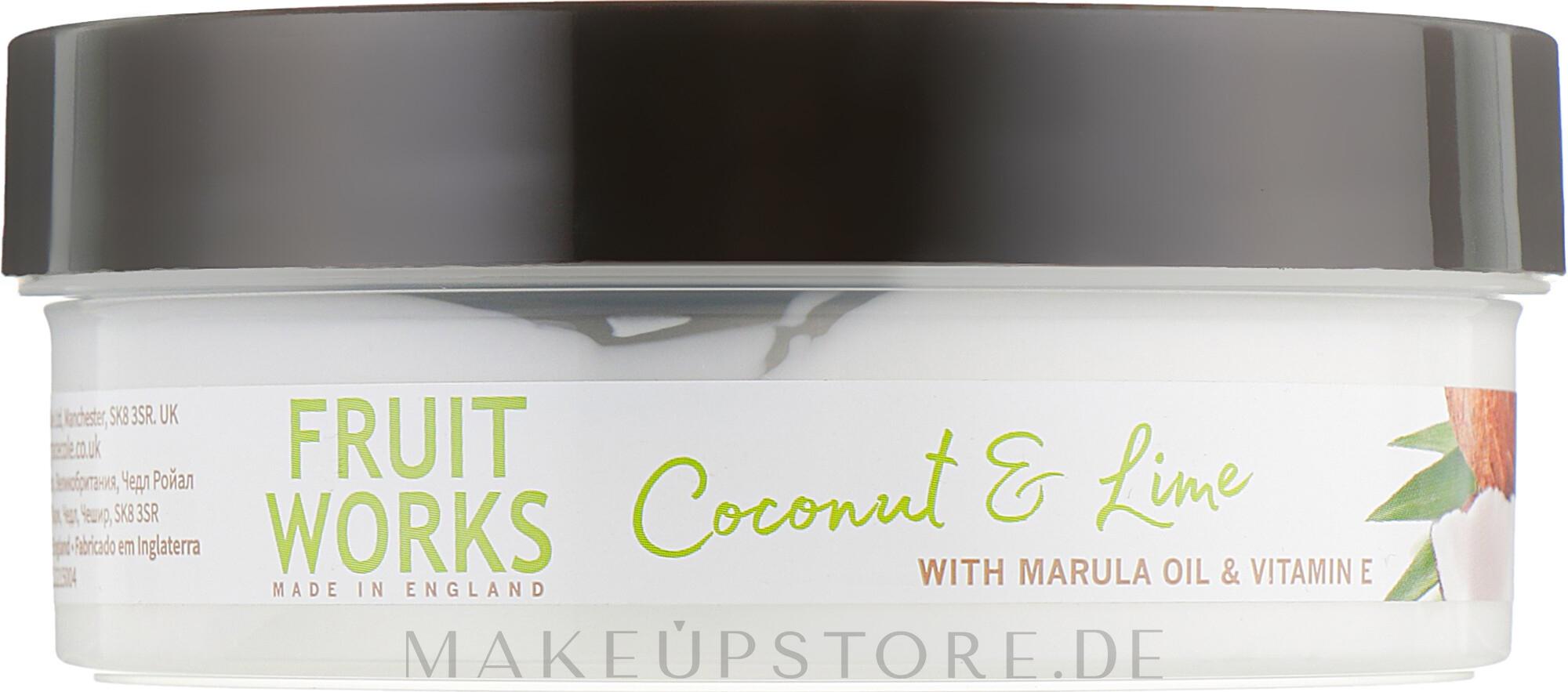 Körperbutter mit Kokosnuss und Limette - Grace Cole Fruit Works Body Butter Coconut & Lime — Bild 225 g
