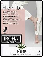 Düfte, Parfümerie und Kosmetik Fußmaske in Socken mit Hanföl - Iroha Nature HEMP Cannabis Foot Mask
