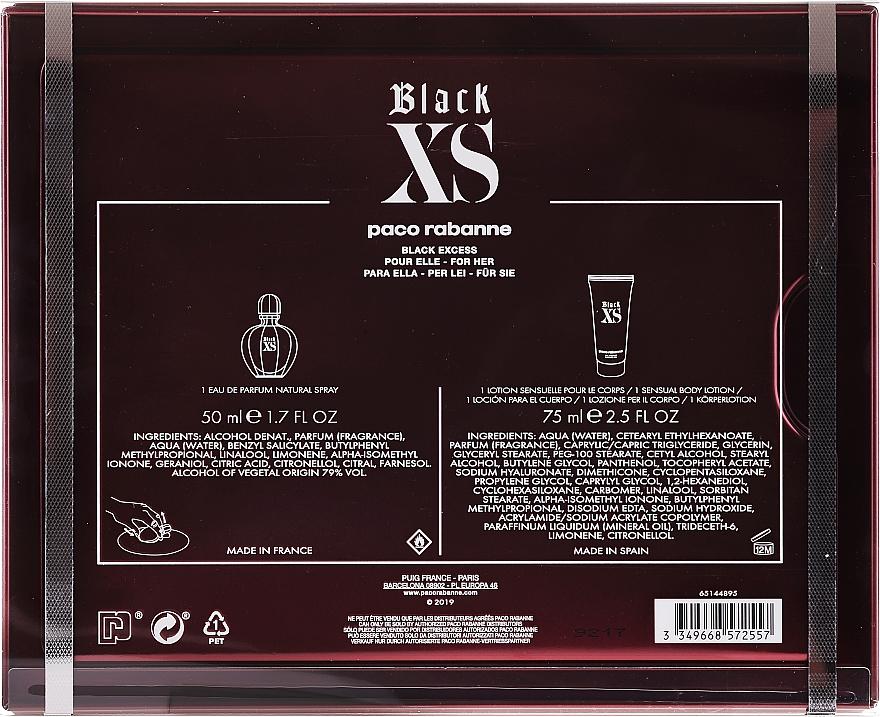 Paco Rabanne Black XS Eau de Parfum - Duftset (Eau de Parfum 50ml + Körperlotion 75ml) — Bild N2