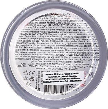 Nährendes Anti-Aging Gesichtspeeling mit Kaviar-Extrakt - Hristina Cosmetics Orient Caviar Face Peeling — Bild N2