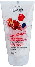 Düfte, Parfümerie und Kosmetik Feiner Joghurt- Körperscrub mit Waldfrüchte und Granatapfel Duft - Avon Naturals Body Creamy Yoghurt Scrub Wild Berries And Pomegranate