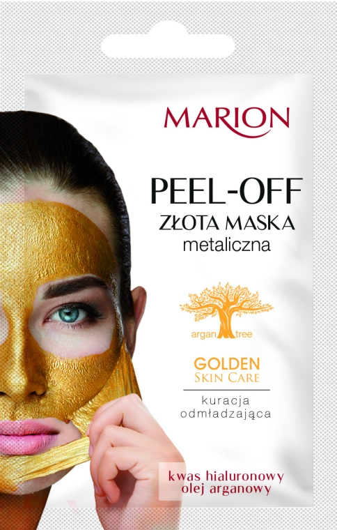 Gesichtsmaske mit Hyaluronsäure und Arganöl - Marion Golden Skin Care Peel-Off Mask