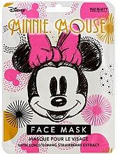 Düfte, Parfümerie und Kosmetik Gesichtsmaske mit Erdbeere-Extrakt - Mad Beauty Disney Minnie Mouse Magic Sheet Face Mask