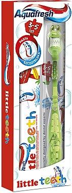 Mundpflegeset für Kinder - Aquafresh Little Teeth (Zahnpasta 50ml + Grüne Zahnbürste 3-5 Jahre 1St.) — Bild N1