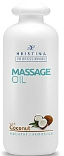Düfte, Parfümerie und Kosmetik Entspannendes glättendes und energetisierendes Massageöl für den Körper mit Kokosnussöl - Hristina Professional Coconut Massage Oil