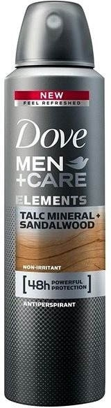 Deospray Antitranspirant - Dove Men+Care Elements Talc Mineral+Sandalwood