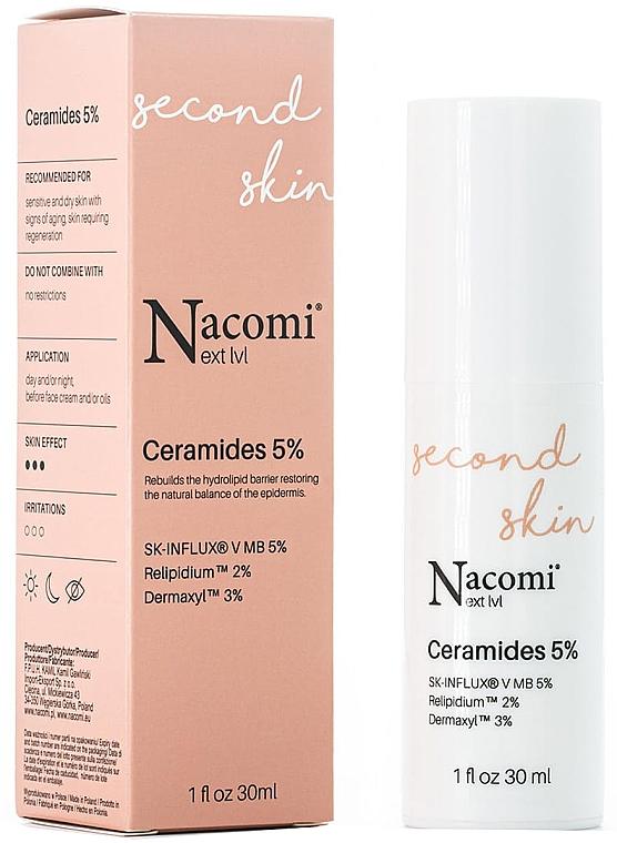 Regenerierendes und feuchtigkeitsspendendes Gesichtsserum mit 5% Ceramiden - Nacomi Next Level Ceramides 5% — Bild N1