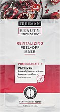 Regenerierende Gesichtsmaske - Freeman Beauty Infusion Revitalizing Peel-Off Mask Pomegranate + Peptides (Mini) — Bild N1