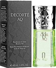 Düfte, Parfümerie und Kosmetik Öllotion für das Gesicht mit Pflanzenextrakten - Cosme Decorte AQ Botanical Pure Oil
